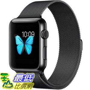 [8玉山最低比價網] 美國代購 Apple Watch Band, Penom 全磁扣式不銹鋼 Bracelet Strap, 42mm-Black