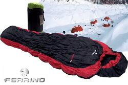 【【蘋果戶外】】Ferrino Nightec 300 義大利 舒適度-1℃ 最強超保暖化纖睡袋 毛毛蟲全開式/中空纖維