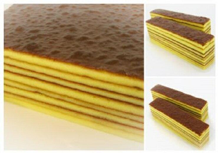 黃金千層蛋糕 長時間一層一層細心鋪疊 慢火逐層烘烤 選用苗栗蜂農自產自銷之純正蜂蜜 勤億殺