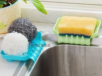 約翰家庭百貨》【BD030】浴室導流瀝水吸盤肥皂盒香皂盒 廚房水槽海綿抹布瀝水盤 抹布架 隨機出貨