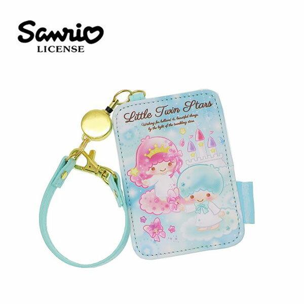 【日本正版】雙子星皮質彈力票卡夾票夾證件夾悠遊卡夾KIKILALA三麗鷗Sanrio-456863
