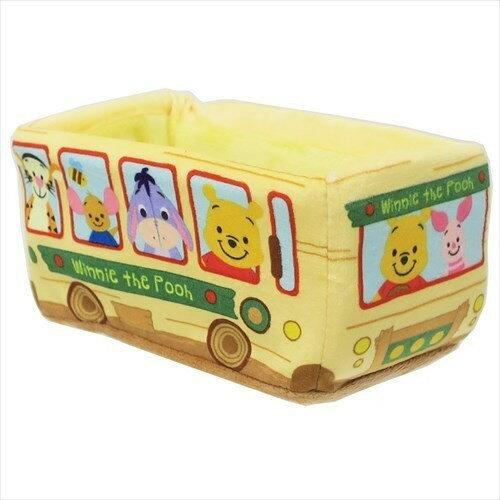 X射線【C067107】小熊維尼WinniethePooh巴士絨毛收納盒,飾品盒收納盒小物置物架桌上收納筆筒