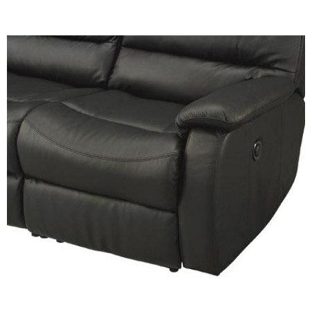 ◎全皮2人用頂級電動可躺沙發 BELIEVER2 BK NITORI宜得利家居 5