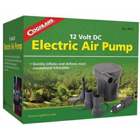 【露營趣】Coghlans 0815 12V車充電動充氣幫浦 充氣馬達 充氣床用