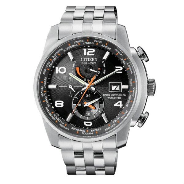 CITIZEN星辰錶AT9010-52E商務科技電波光動能腕錶黑面46mm