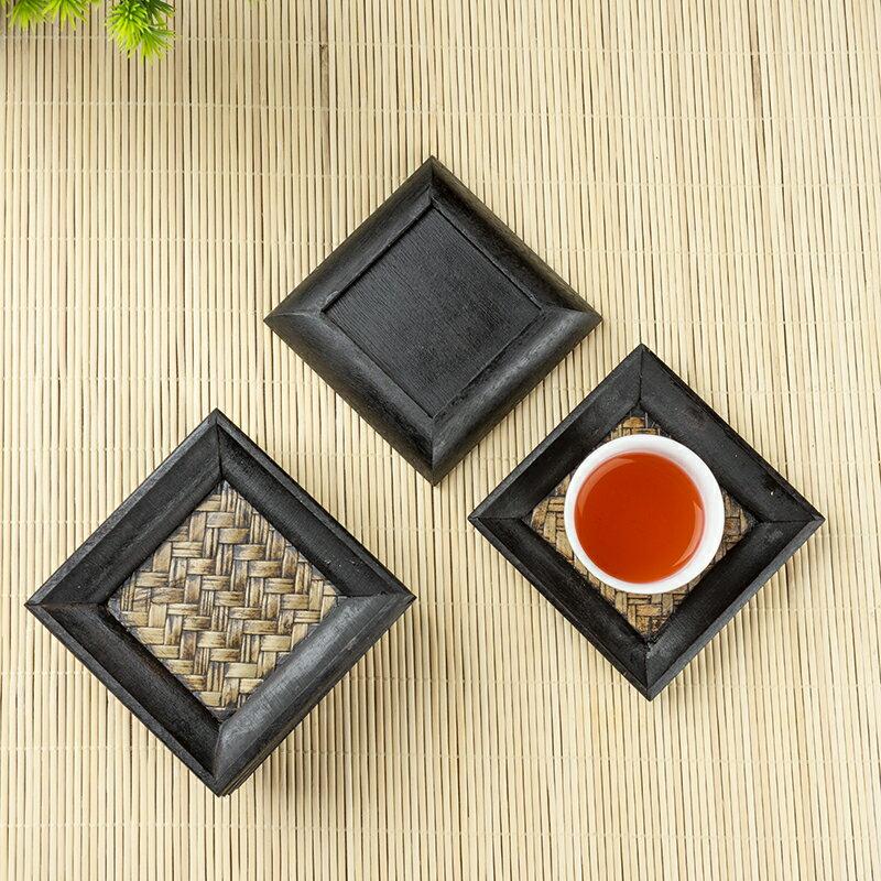 泰國竹編杯墊創意茶杯墊茶道功夫茶杯墊托墊杯托隔熱墊茶道茶具