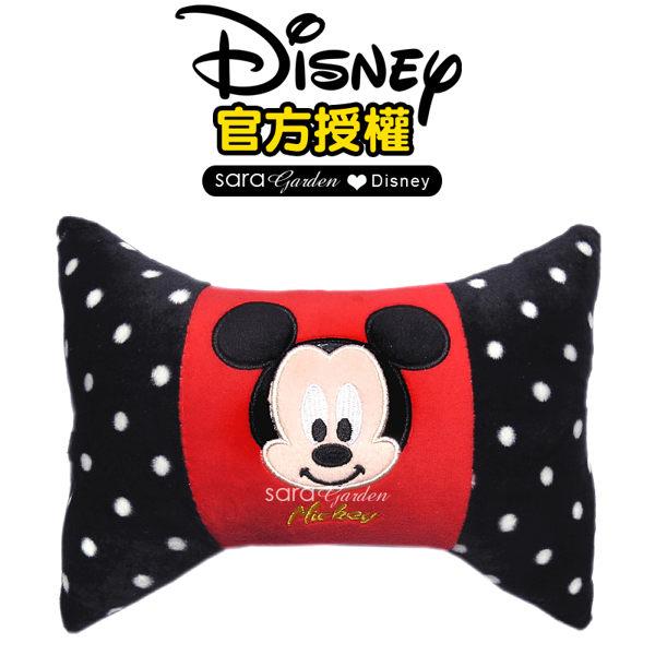 正版 迪士尼 Disney 米奇 糖果 頸枕 枕頭 靠枕 午睡枕 護頸枕 眼罩 鬆緊 旅遊 柔軟 絨毛