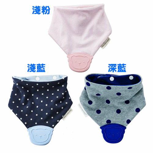 『121婦嬰用品』奇哥 咬咬安撫兜 淺藍/深藍/淺粉