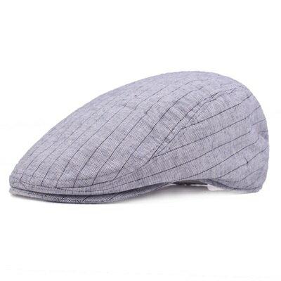 貝雷帽鴨舌帽-夏季薄款條紋戶外男女帽子3色73tv215【獨家進口】【米蘭精品】