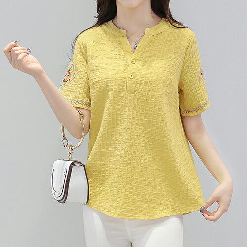 *ORead*棉麻短袖T恤(4色M~5XL) 2