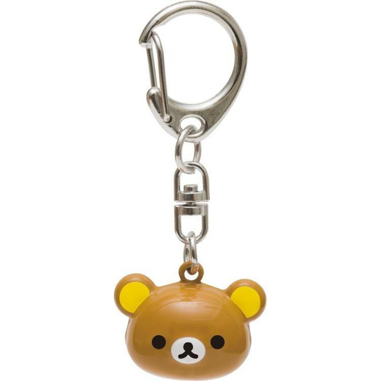 【真愛日本】17111400042 立體頭型鈴鐺鎖圈-懶熊 SAN-X 懶熊 奶熊 拉拉熊 鎖圈 吊飾 飾品 裝飾品