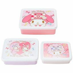 日本直送 Sanrio Hello Kitty/ Melody 美樂蒂 食物盒套裝(1套3件)