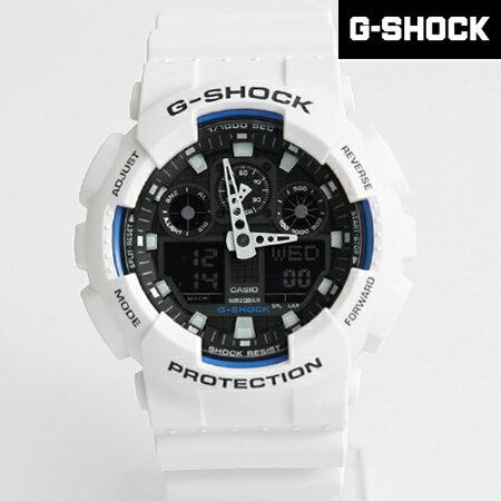 G-SHOCK 白藍雙顯重機手錶 柒彩年代【NECG3】casio