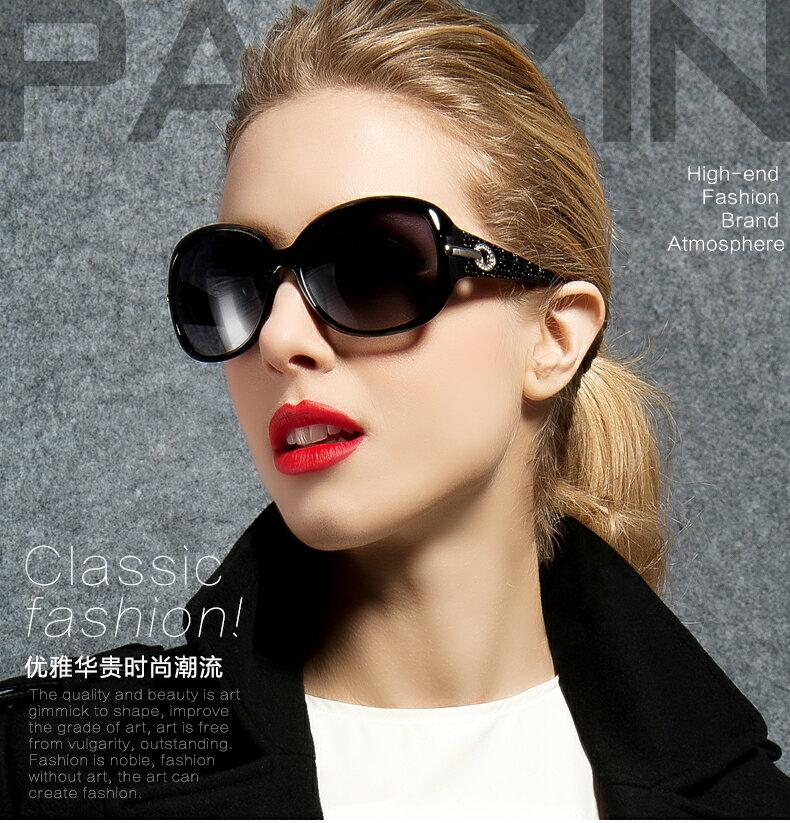 百變墨鏡 女時尚優雅偏光駕駛太陽眼鏡 水鑽時尚墨鏡七天預購+現貨
