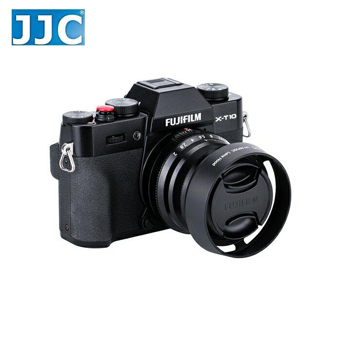 又敗家@JJC富士Fujifilm副廠遮光罩LH-XF35II遮光罩(黑色)相容原廠Fujifilm遮光罩LHXF35II太陽罩,適XF  23mm 35mm f/2.0 R WR太陽罩F2.0遮陽罩