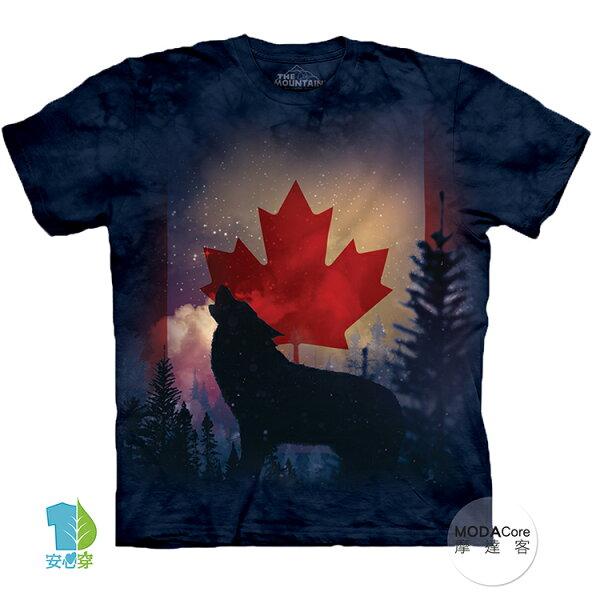【摩達客】(預購)美國進口TheMountain加拿大狼嚎純棉環保藝術中性短袖T恤