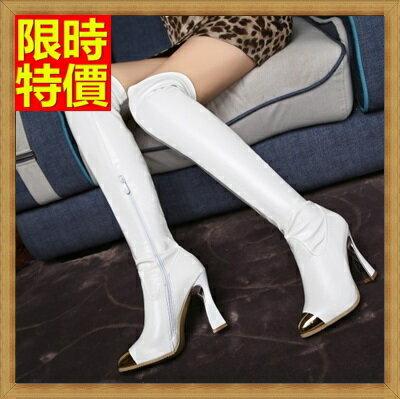 ~過膝長靴 女鞋子~初秋 性感修腿彈力真皮女靴子2色71ab23~ ~~米蘭 ~
