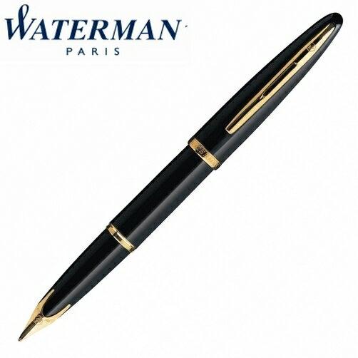 【華特曼WATERMAN】頂級海洋系列純黑金夾鋼筆18K筆尖FW0700300支