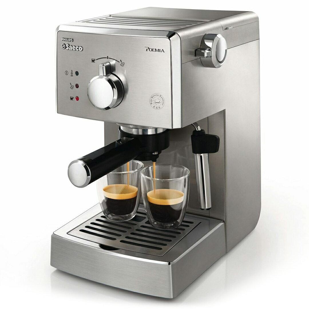 HD8327  PHILIPS 飛利浦Saeco POEMIA家用半自動義式咖啡機【送咖啡豆一包】 - 限時優惠好康折扣