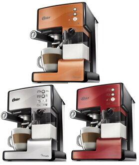 限量1組【送伊瑪鬆餅機+咖啡豆一包】美國 OSTER 奶泡大師義式咖啡機 BVSTEM6601【銅色限定】