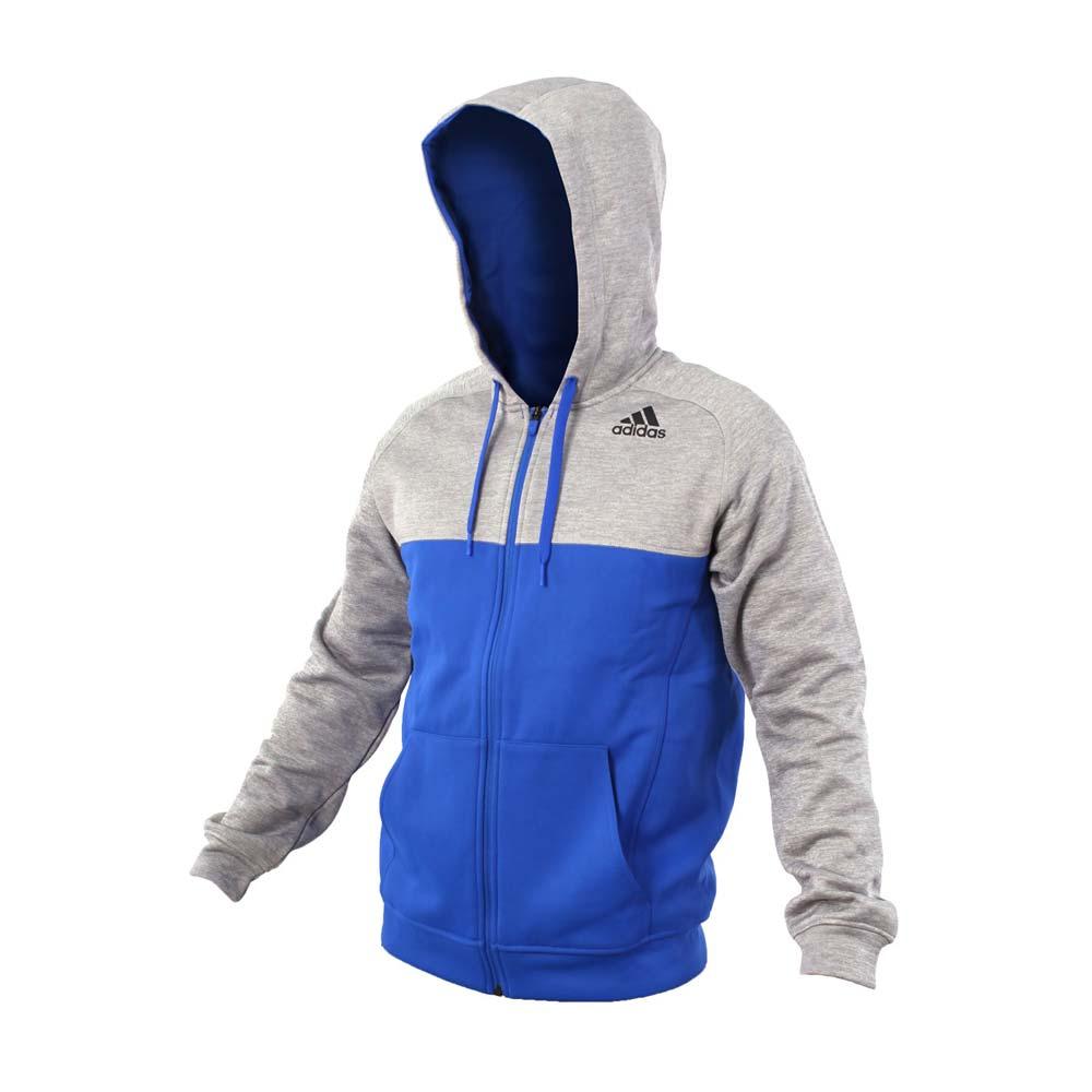 [尋寶趣]Adidas Team Issue Hoodie 男款 灰藍色 運動外套 連帽外套 AY7468