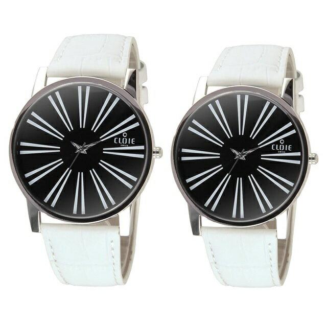 CLOIE 活力無限時尚腕錶-黑 37mm/43mm 男女對錶