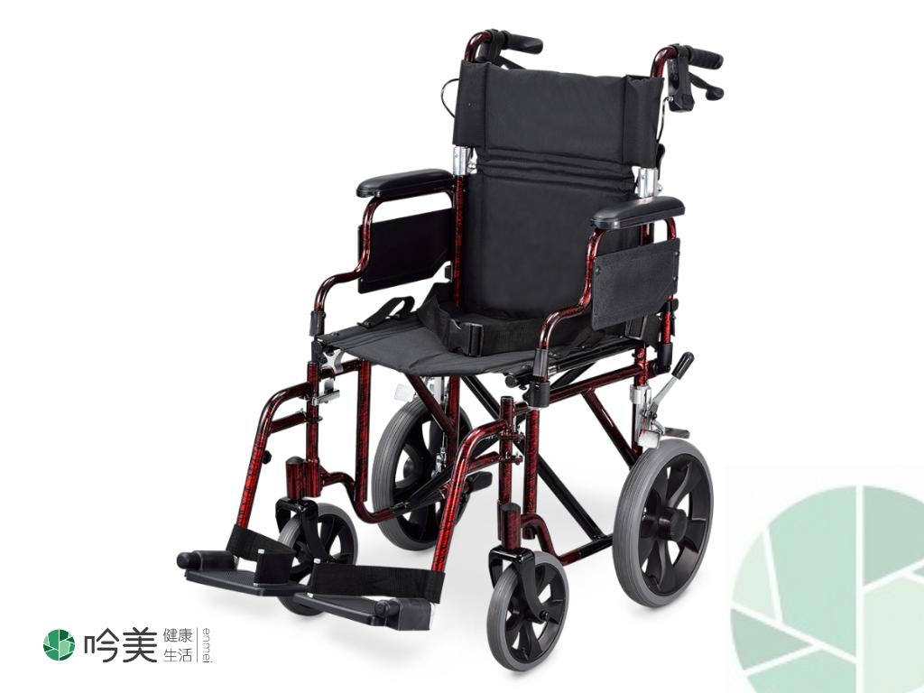 VNW01 輕便移位型手動輪椅-煙火紅