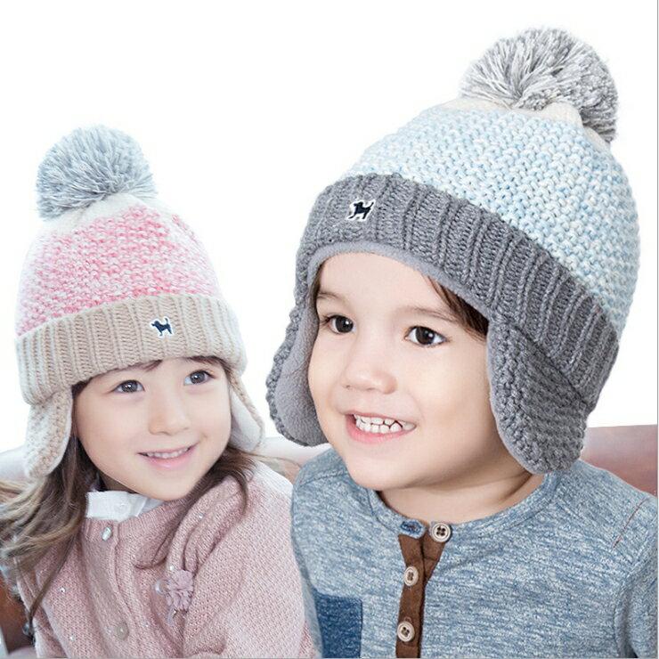 韓國Lemonkid兒童護耳毛線帽