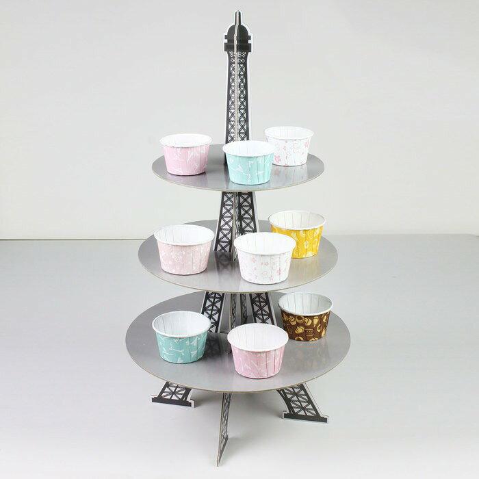 【嚴選SHOP】鐵塔造型 蛋糕座 派對架 三層蛋糕喜糖座 置物架 裝飾 下午茶蛋糕座/蛋糕架/派對架/宴會架【K067】