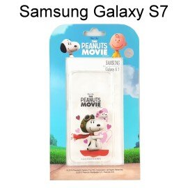 SNOOPY 史努比透明軟殼 ^~心心相印^~ Samsung G930FD Galaxy