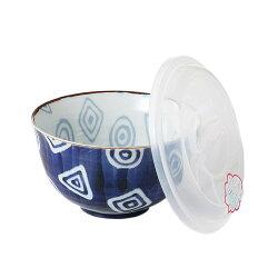日本陶瓷【美濃燒】烙紋 丼碗 (日本製) 附保鮮蓋~湯碗 飯碗 麵碗 陶瓷缽~窯燒盛碗