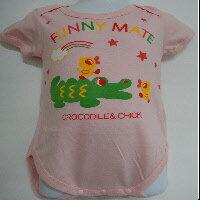 短袖包屁衣~鱷魚與小雞