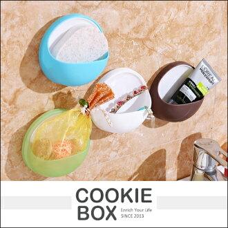 浴室 吸盤 肥皂盒 (顏色隨機出貨) 衛浴 廚房 創意 肥皂架 香皂盒 置物 收納架 *餅乾盒子*