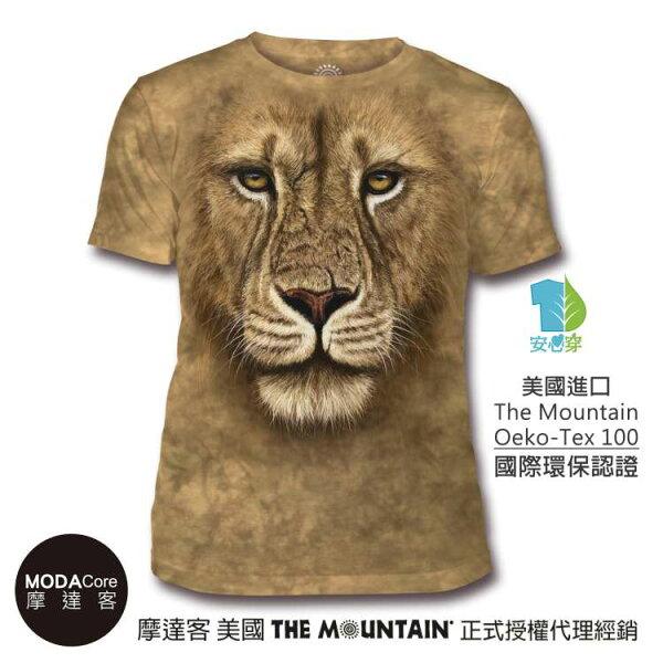 【摩達客】(預購)美國TheMountain都會系列獅勇士中性修身短袖T恤