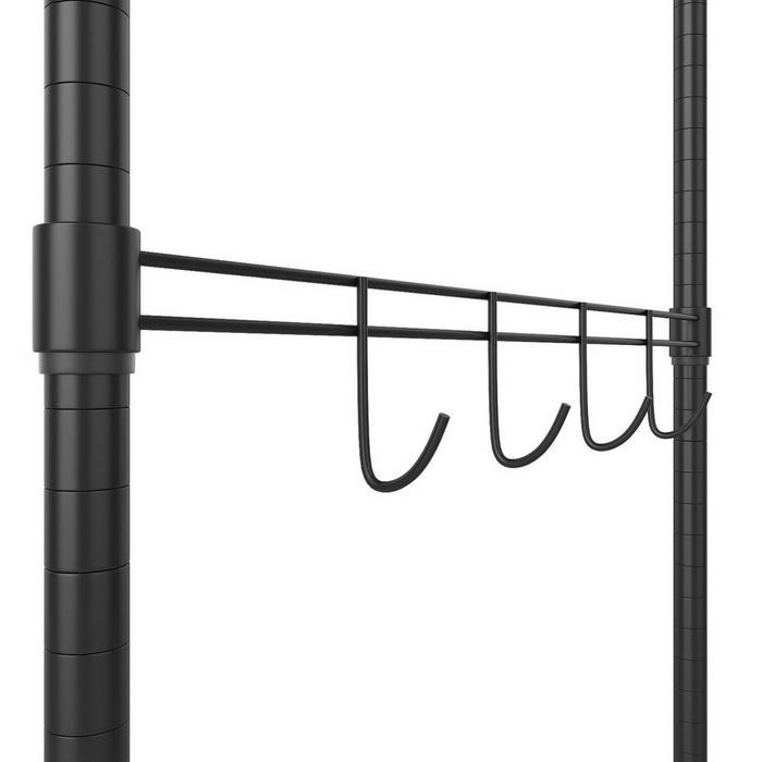 Wire Shelving Garment Rack Closet Hanger Organizer with Wheels 5