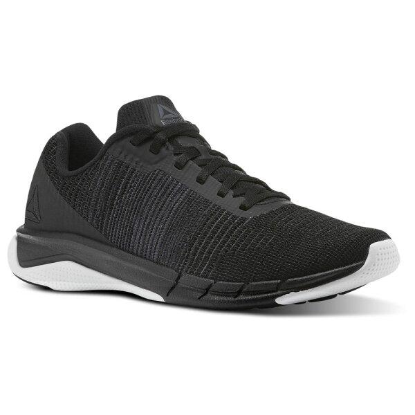 REEBOKFastFlexweave男鞋慢跑訓練健身有氧透氣輕量黑白【運動世界】CN1600
