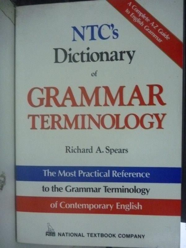 【書寶二手書T2/語言學習_YAN】NTC's Dictionary of GRAMMAR
