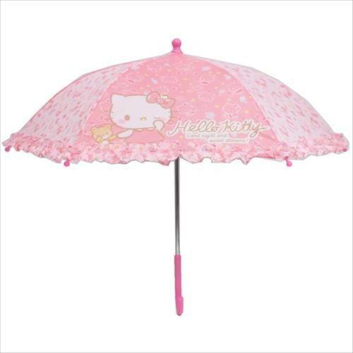 【真愛日本】17111600006 兒童直傘-KT亂花粉 三麗鷗 Kitty 凱蒂貓 兒童用 日用品 居家生活 雨季必備