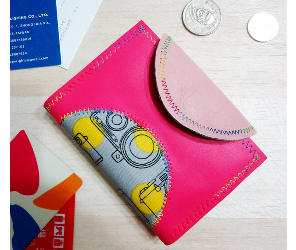 相機迷票卡名片夾零錢包Card case coin purse 全程台灣製作 Anitajewel