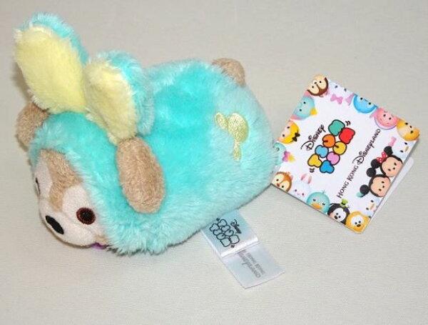 X射線【C619001】香港迪士尼代購-復活節限定達菲DuffyTusmTusm娃娃,絨毛填充玩偶玩具公仔靠墊抱枕靠枕