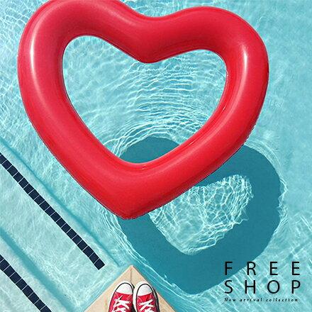Free Shop 甜蜜蜜愛心造型泳圈 紅色粉紅色 心形泳圈水上浮床浮圈超可愛【QAAHM7048】