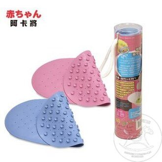 【迷你馬】奶油獅 吸盤式浴盆止滑墊-水/粉