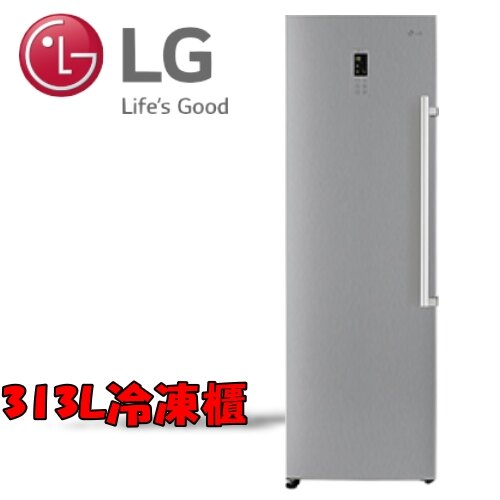 《特促可議價》LG樂金 313L 直驅變頻單門冷凍冰箱-精緻銀【GR-FL40SV】