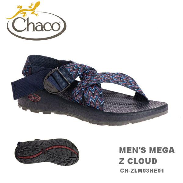 【速捷戶外】美國ChacoMEGAZCLOUD越野紓壓運動涼鞋男款CH-ZLM03HE01-標準(藍色艦隊)