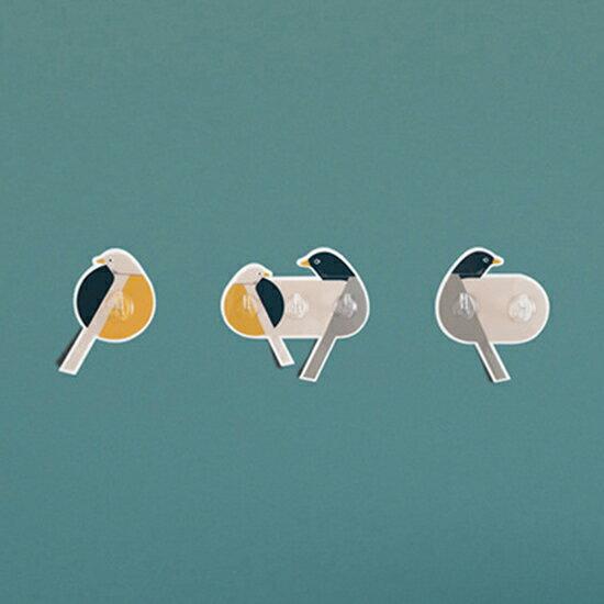 ●MY COLOR●創意簡約小鳥掛勾(2勾)掛鉤 強力黏膠 免釘 門後 廚房 牆壁 衛生間 黏勾 浴室 免打孔 櫥櫃 抹布掛【P638】