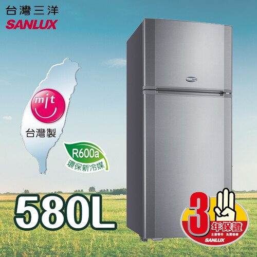 SANLUX SANYO 三洋 580L 風扇雙門冰箱 SR~A580B