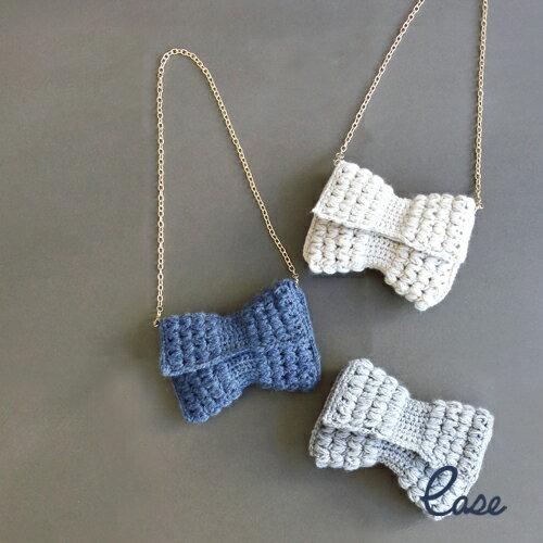 編織款蝴蝶小肩包