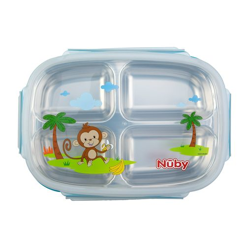 Nuby 不鏽鋼分格餐盒(顏色隨機出貨)★衛立兒生活館★ 3