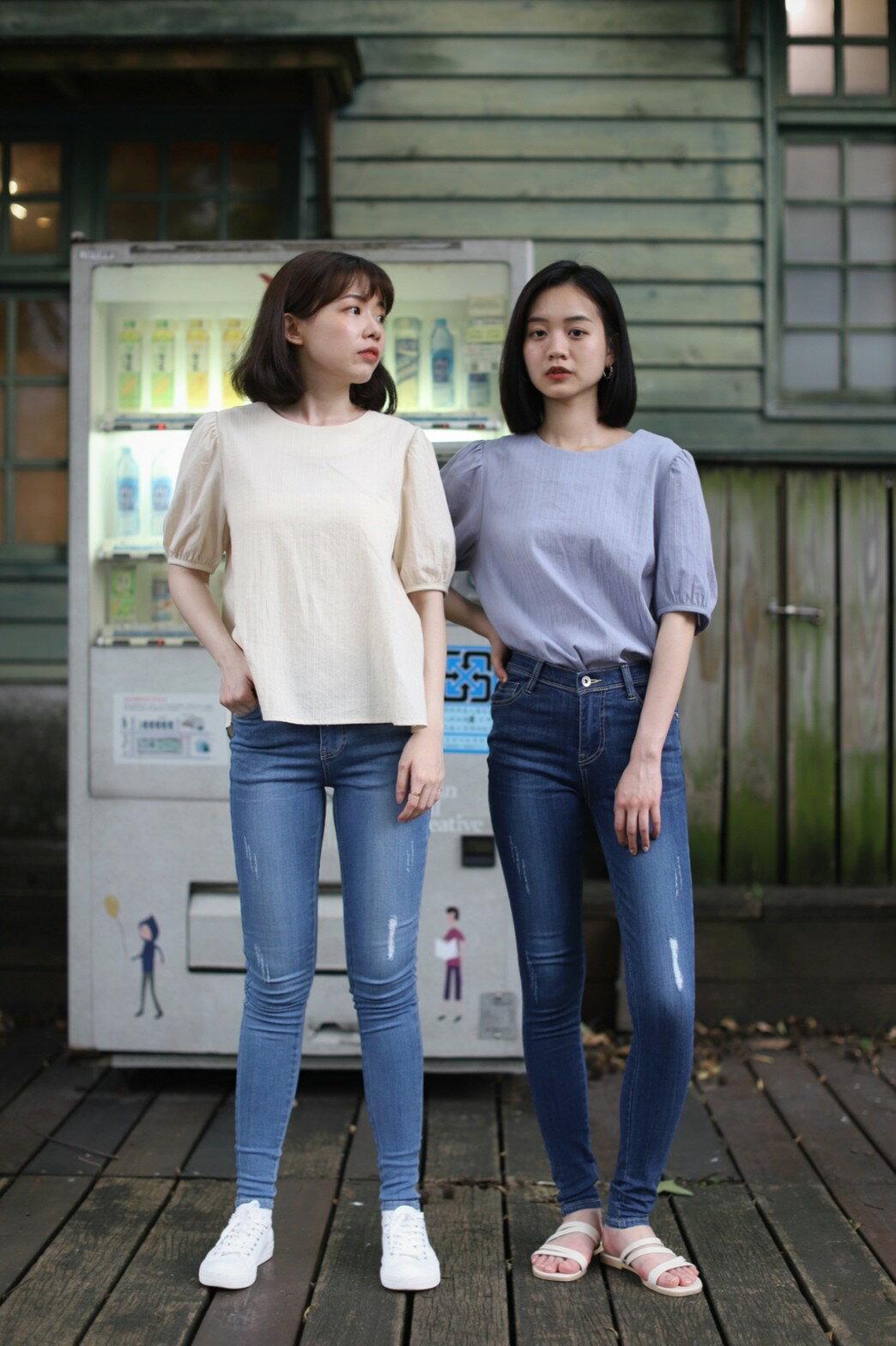 CHILL 女裝 涼感經典款skinny牛仔褲(深藍/淺藍)