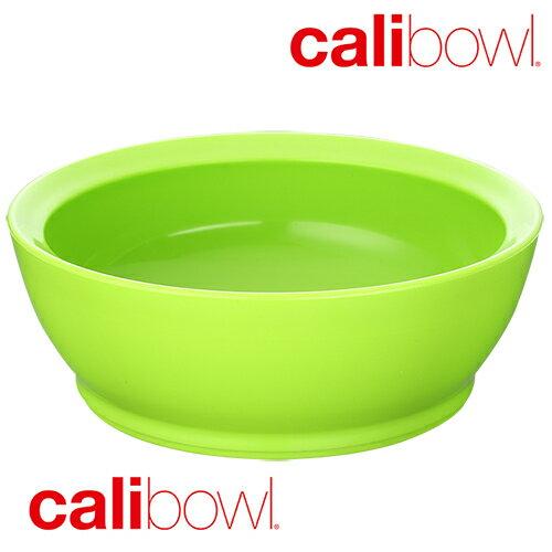 美國 CaliBowl 專利防漏防滑幼兒學習碗 12oz 單入無蓋 綠色 公司貨 *夏日微風*